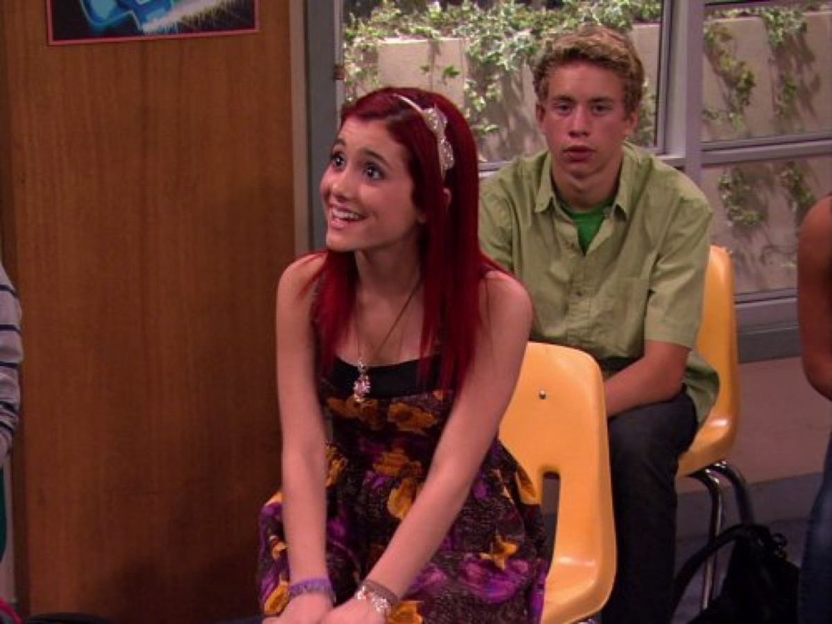 ariana grande on victorious as cat valentine