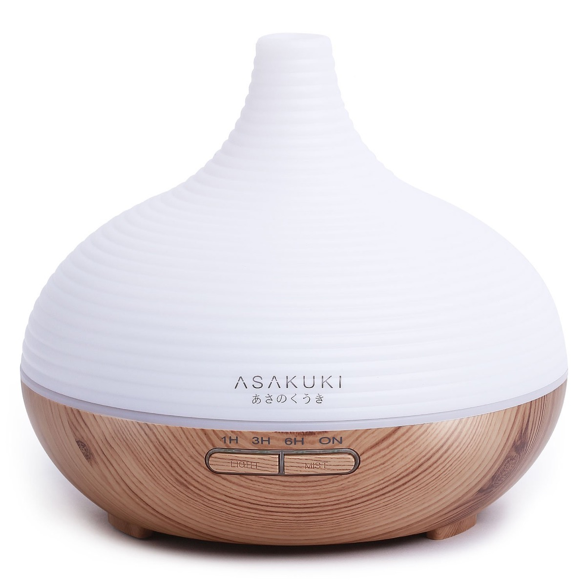 white and wooden essential oil diffuser