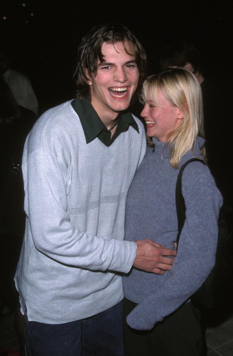 Ashton Kutcher and January Jones