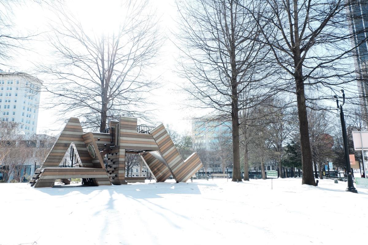 Atlanta Georgia covered in snow