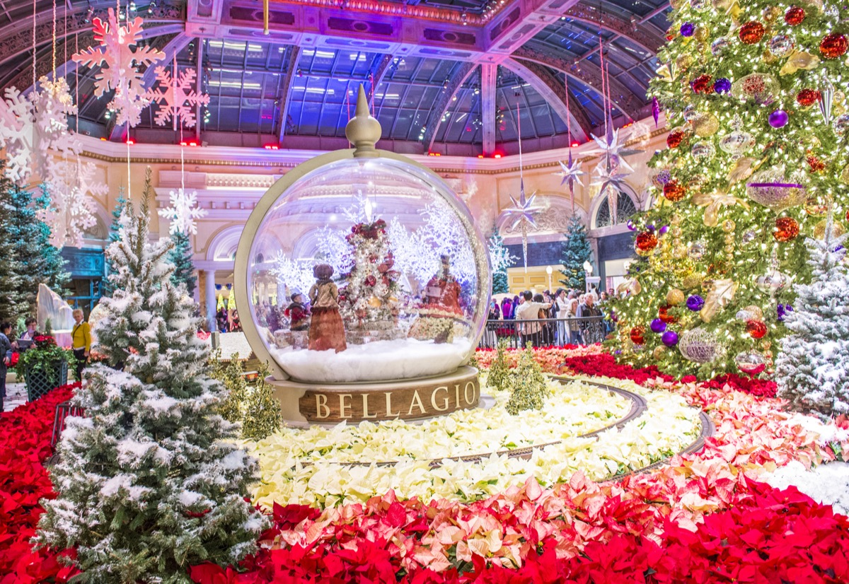 Christmas decorations at the Bellagio