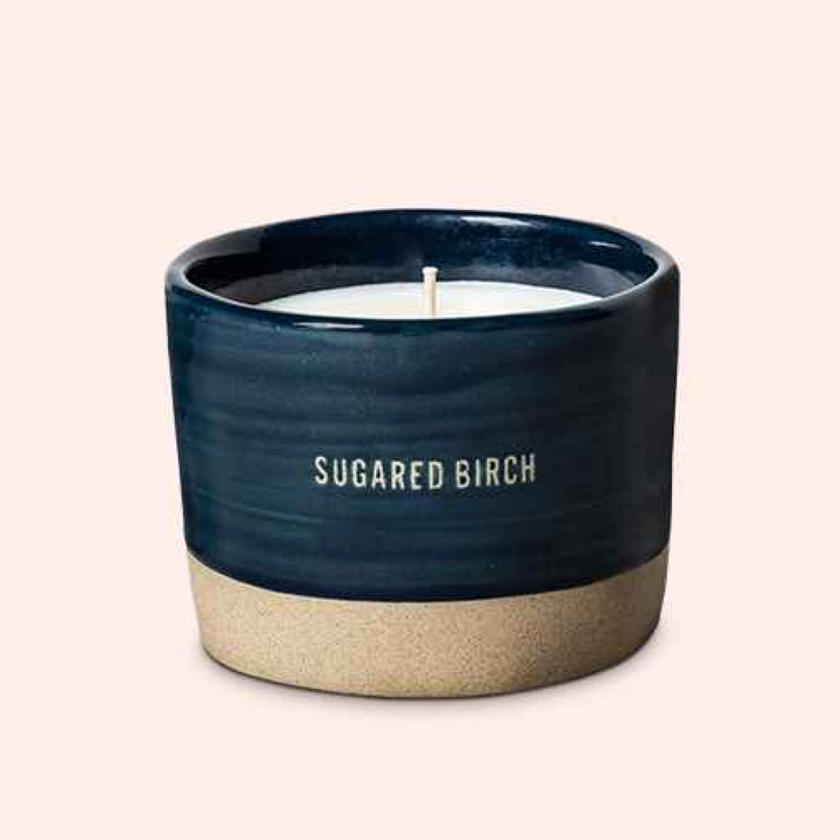 blue and gold candle