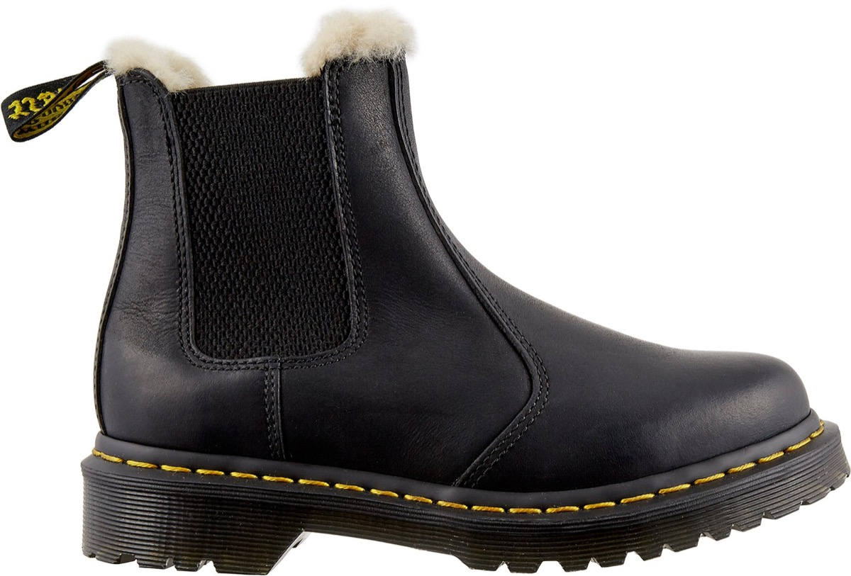 shearling lined doc martens