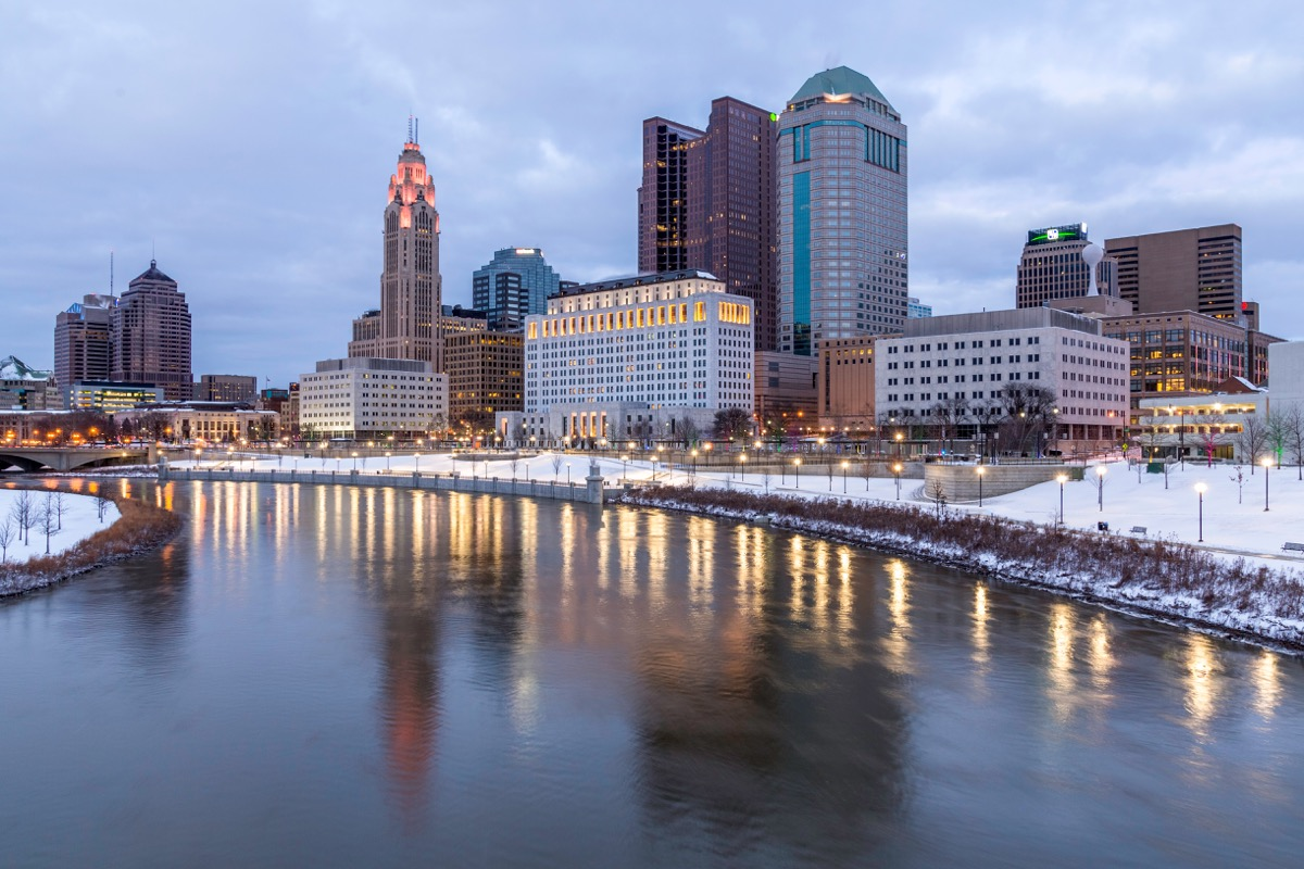 Cleveland Ohio in the winter
