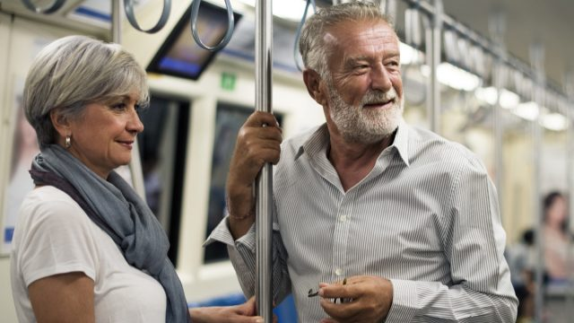 couple on the subway