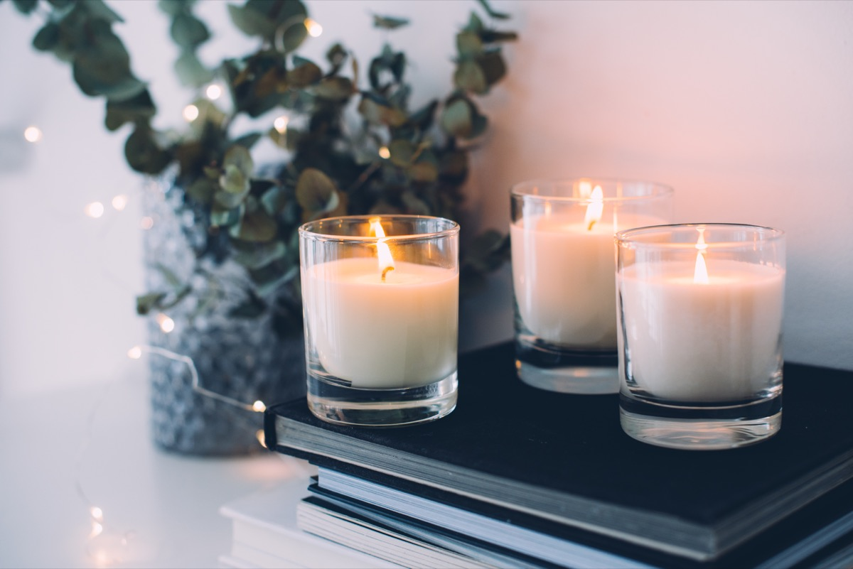 cozy home decor burning candles