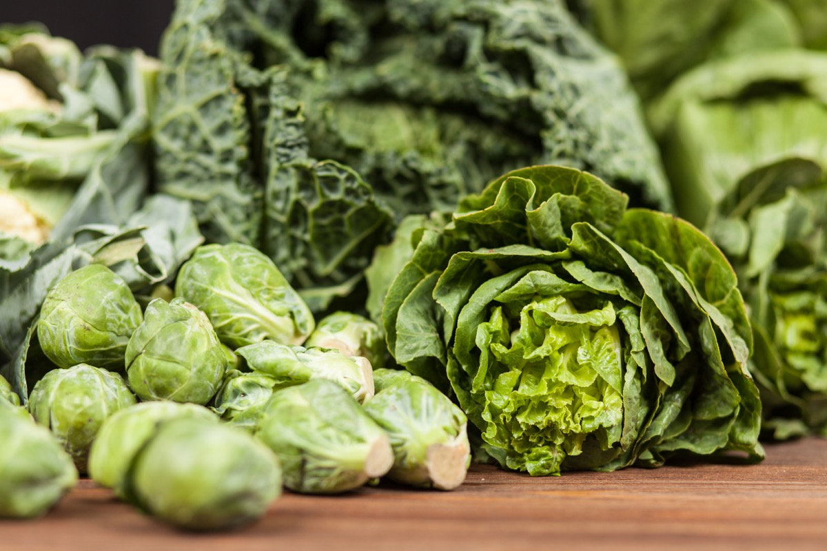 dark leafy green vegetables on a table
