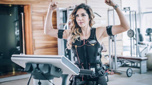 Electric stimulation workout