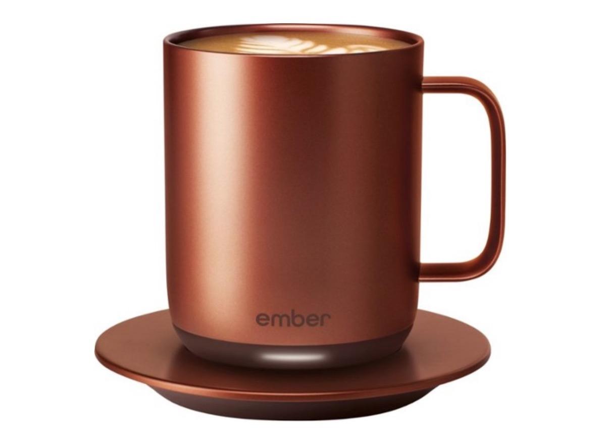 copper colored ember mug