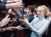 emma stone signing autographs for fans