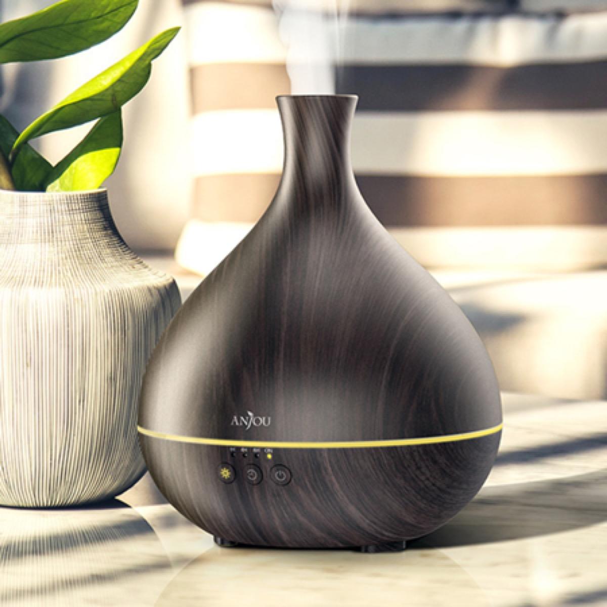 wood toned essential oil diffuser