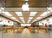 exterior of an apple store