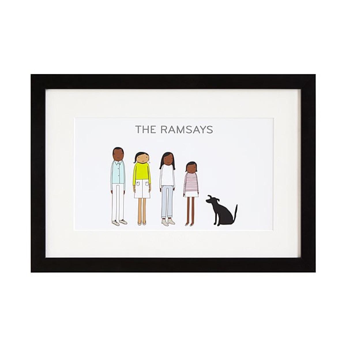 cartoon portrait of the ramsay family