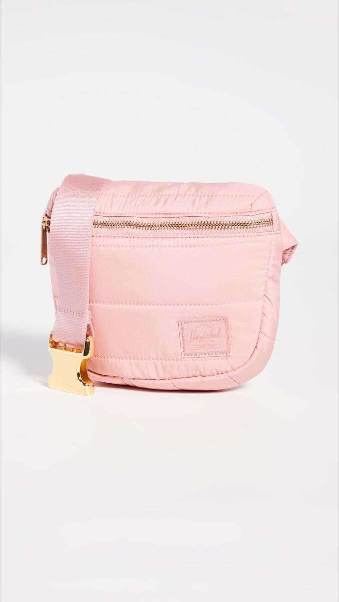 pink belt bag