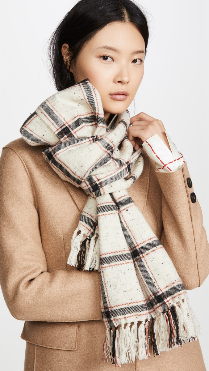fringe tessel scarf