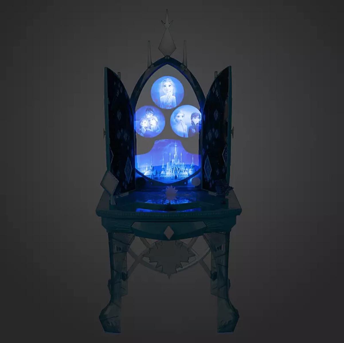 frozen lighted vanity set