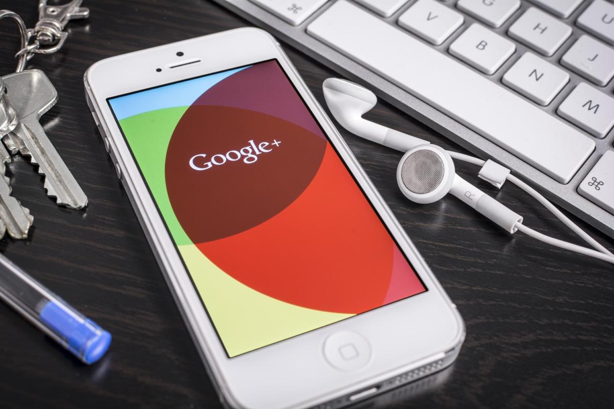 google plus app on phone