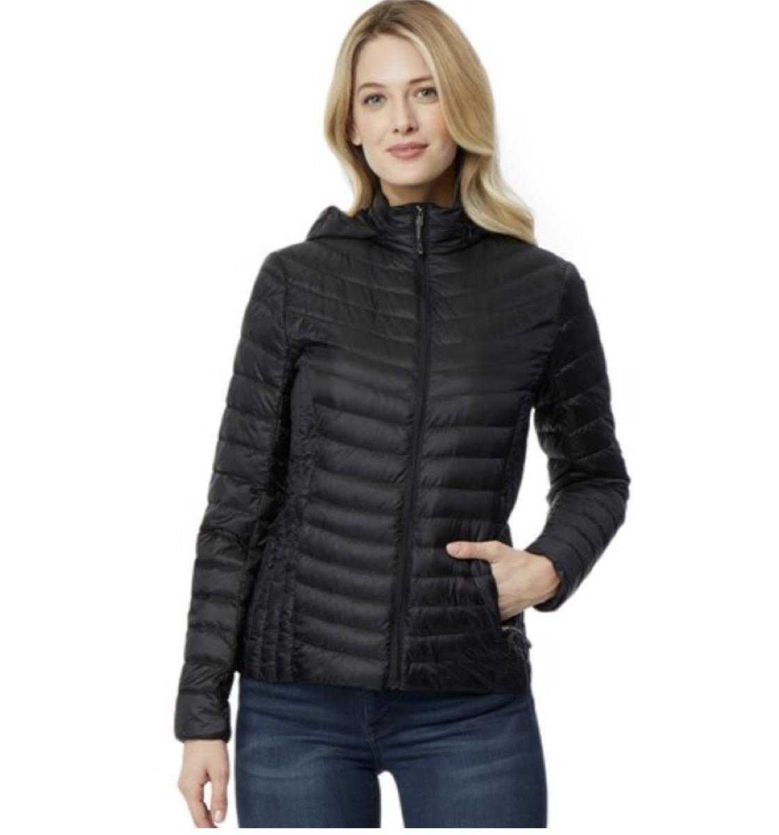 hooded packable down jacket