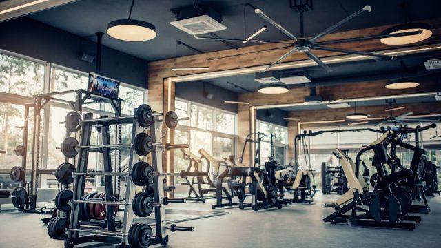 interior of gym