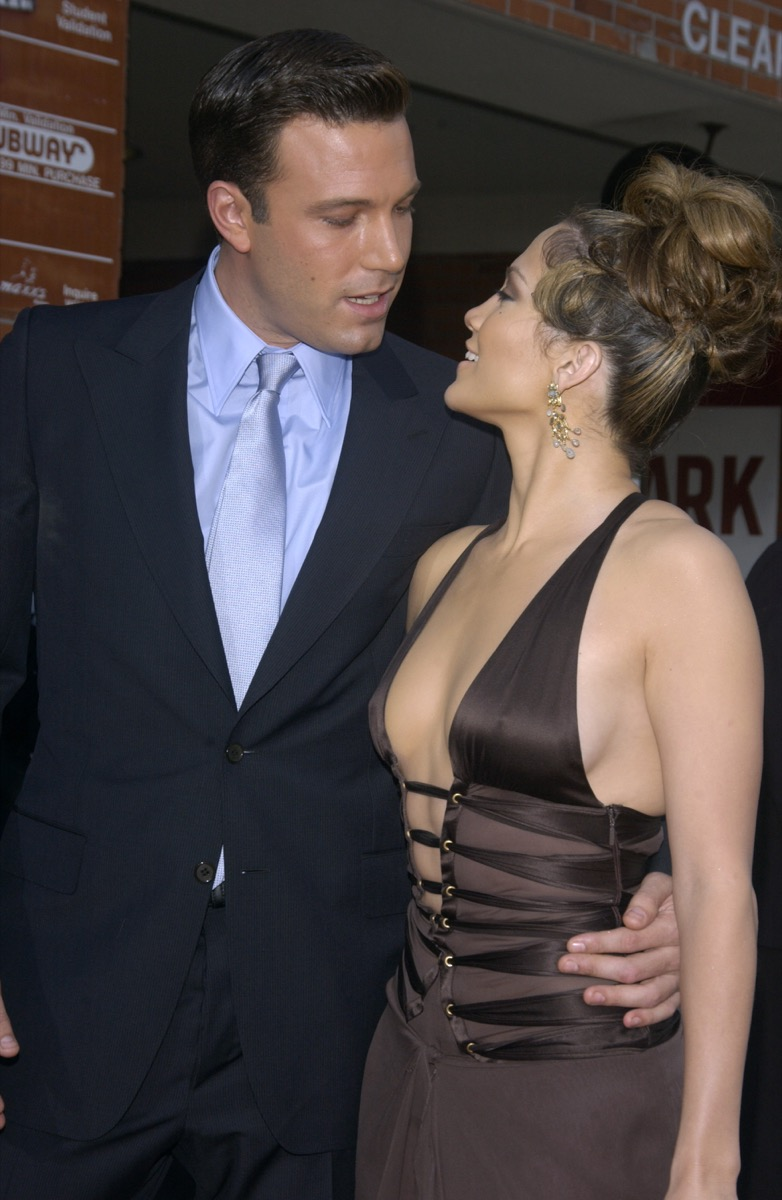 """Ben Affleck and Jennifer Lopez at the premiere of """"Gigli"""" in 2003"""