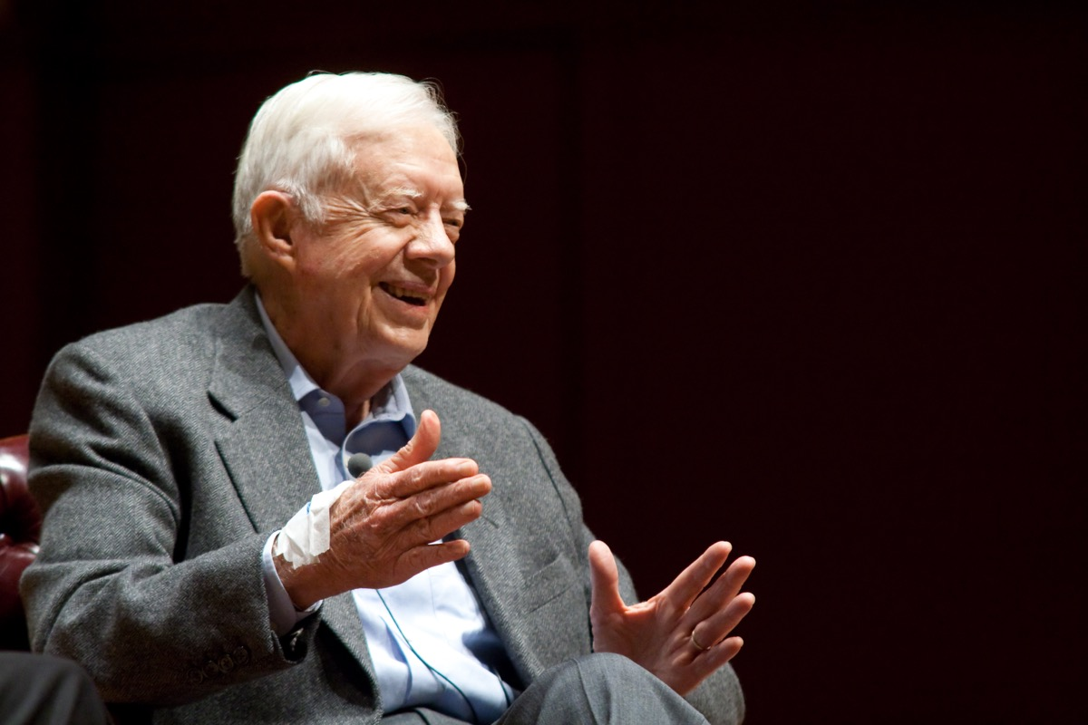 Jimmy Carter speaking at Emory University in 2008