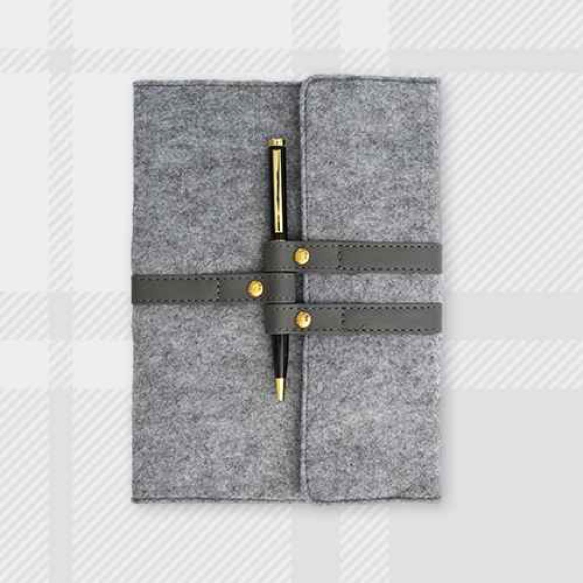 gray felt journal