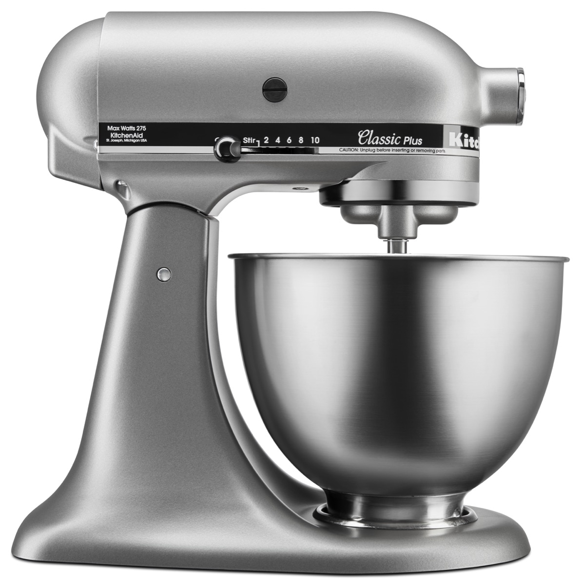 kitchen aid classic plus silver stand mixer