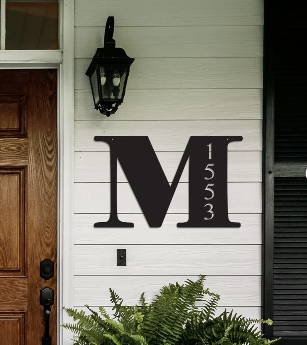 letter 1-line wall address plaque