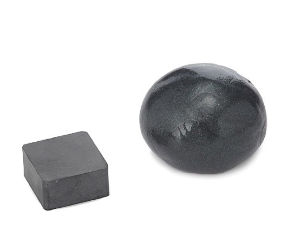 ball of silver magnetic putty