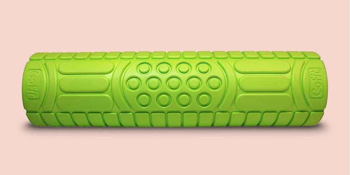 green massage roller