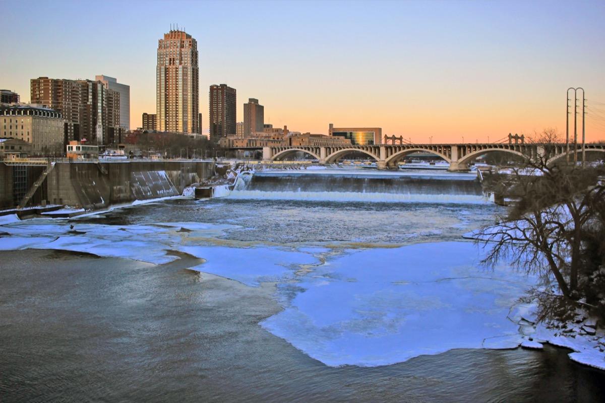 Minneapolis Minnesota in the winter
