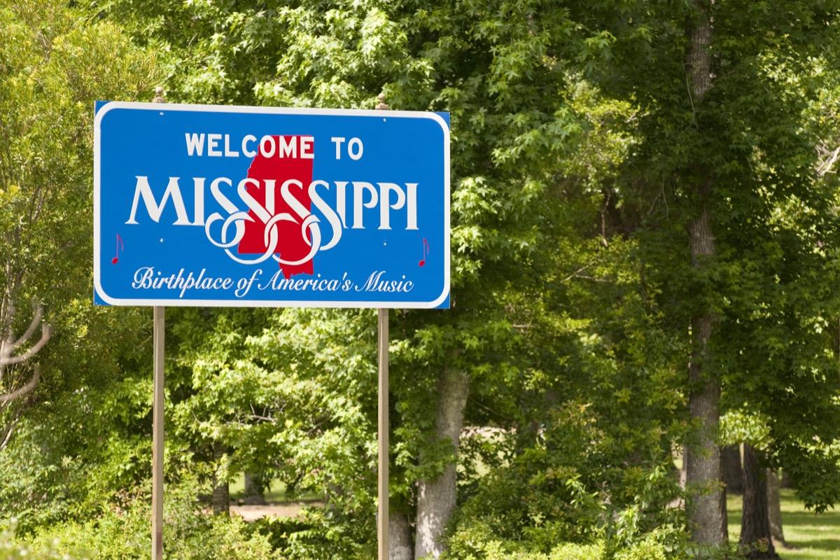 mississipi state sign
