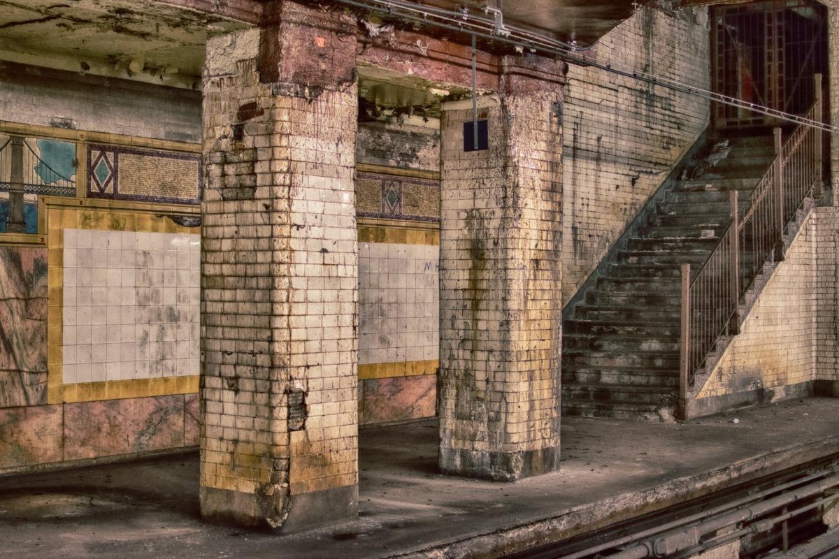 old abandoned subway station
