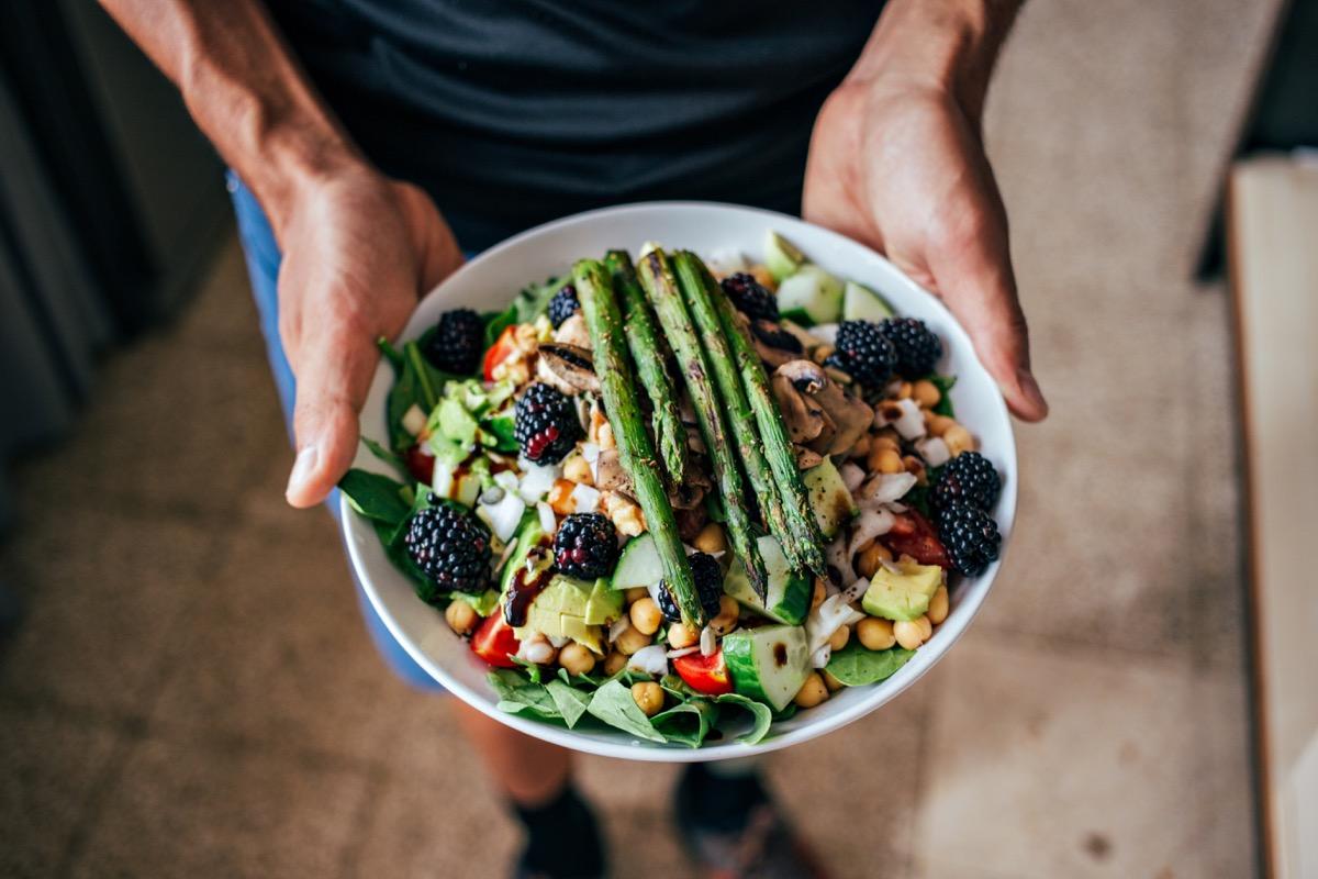 A healthy paleo vegan, or pegan, salad