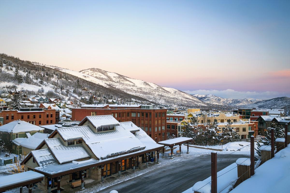 Park City, Utah, covered in snow