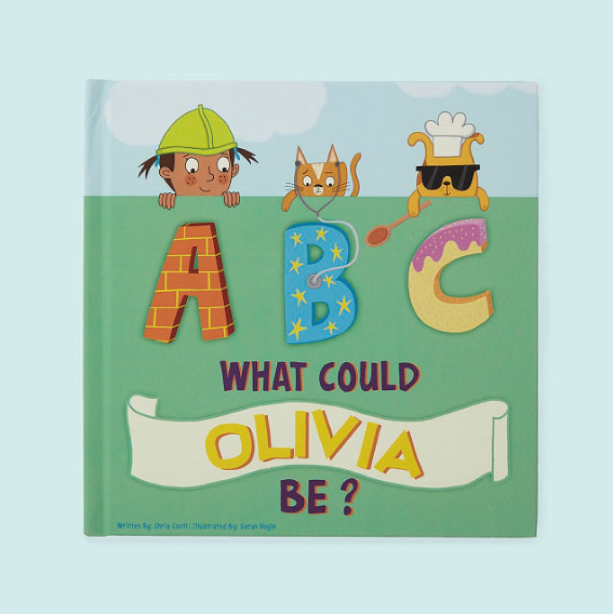 personalized abc book called what could olivia be