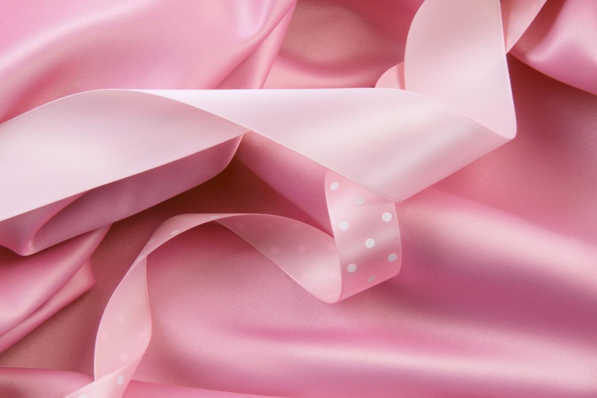 fabric pink ribbons