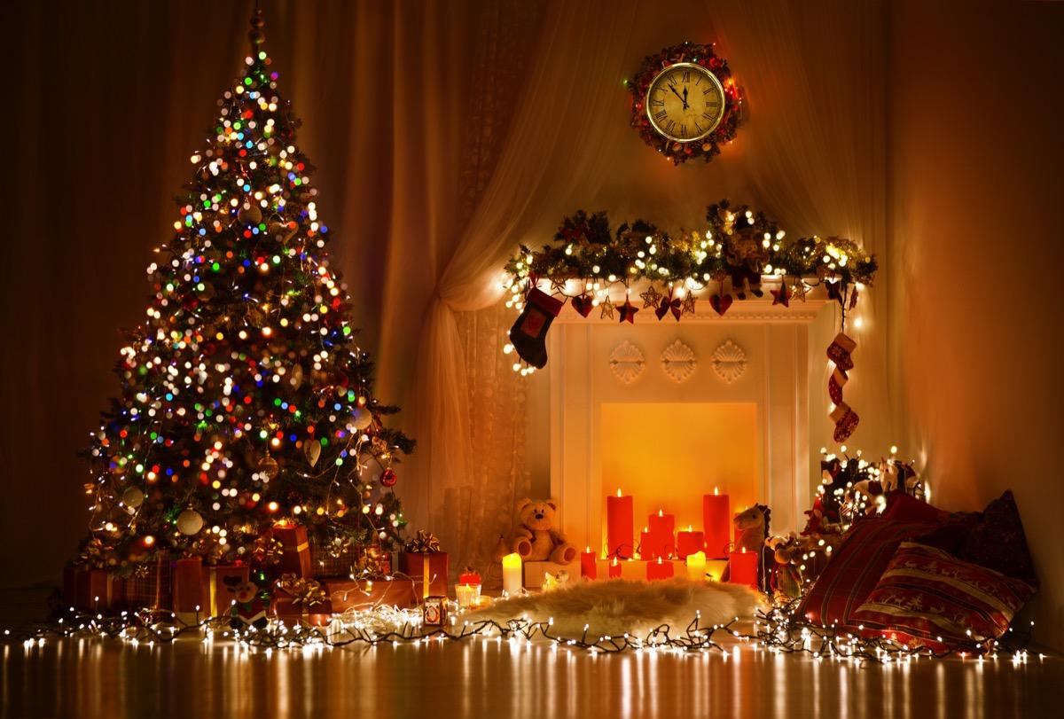 really festive living room