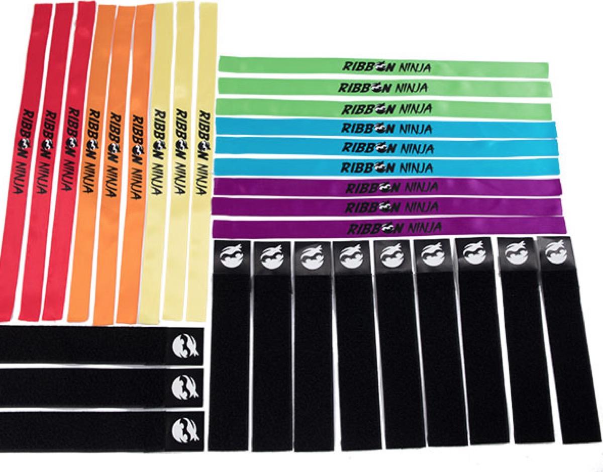 set of multicolored ribbon ninja ribbons