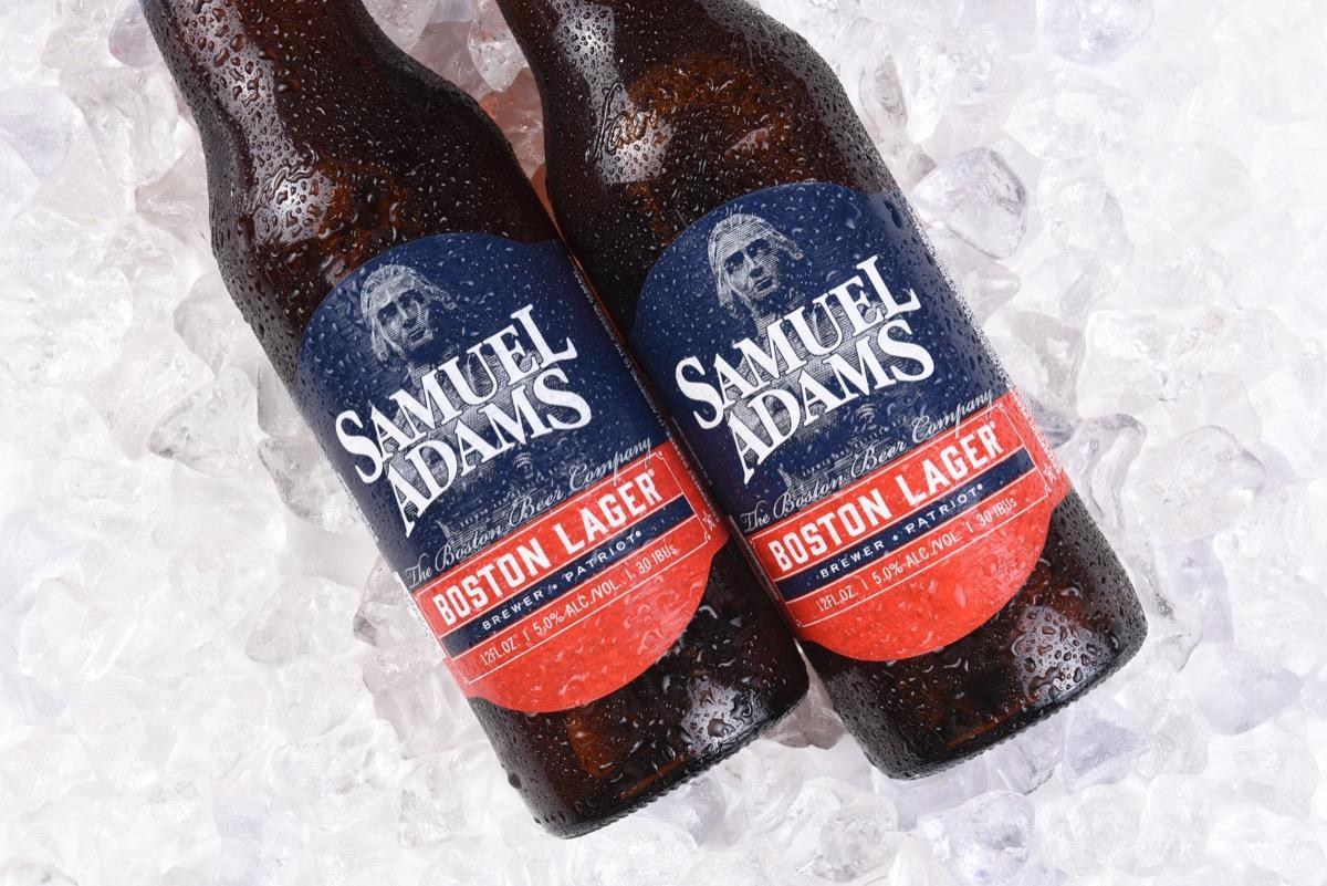 samuel adams bottles on ice