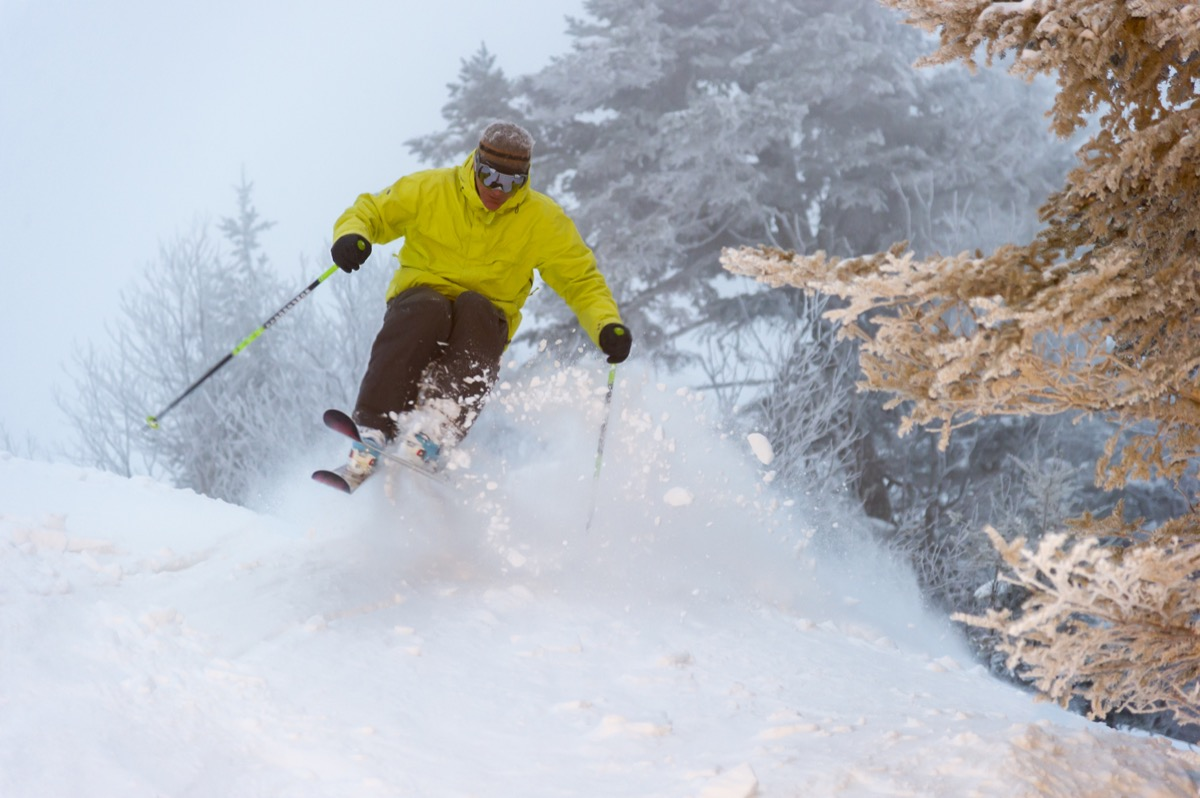 Man skiing in vermont