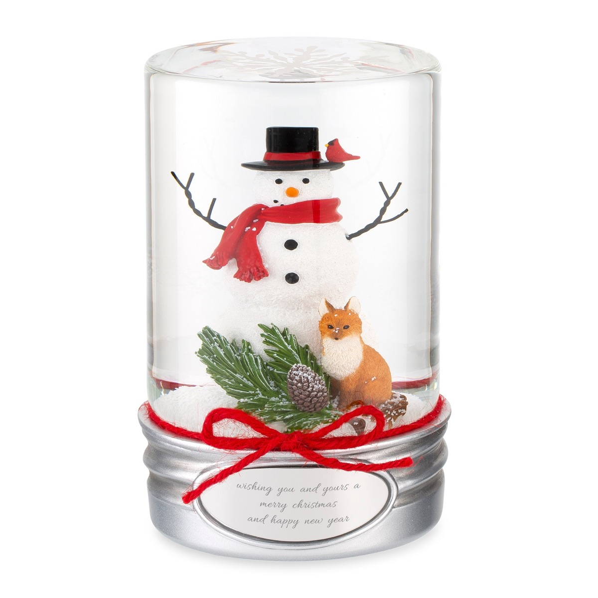 snowman mason jar snow globe