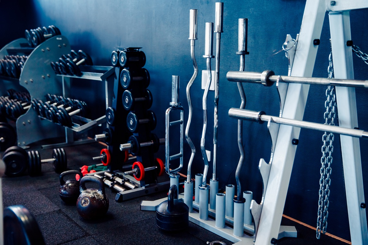 sports equipment at the gym