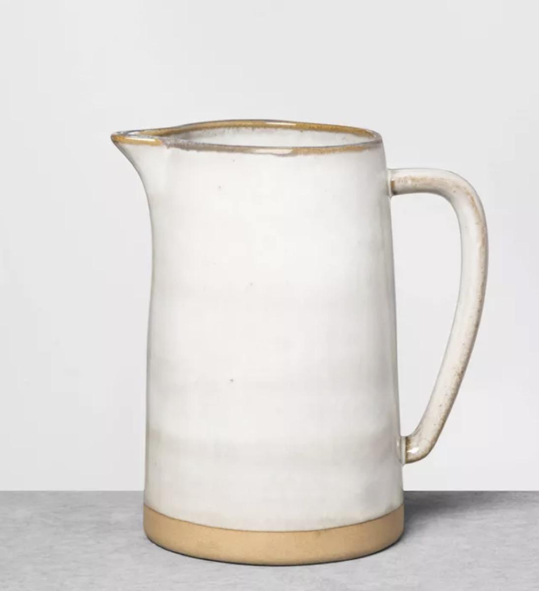 stoneware gray pitcher