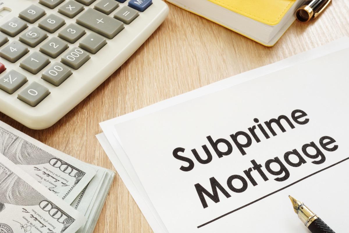 suprime mortgage