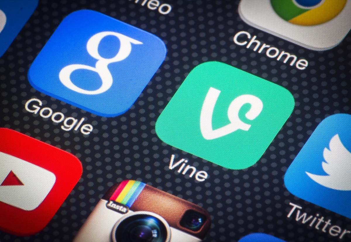 vine app on a phone