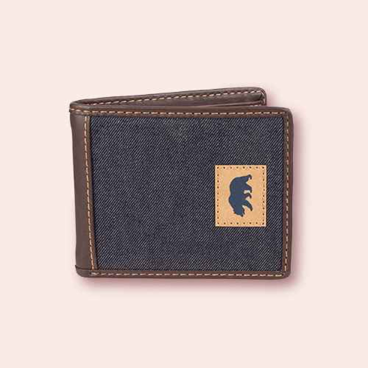 gray and brown wallet