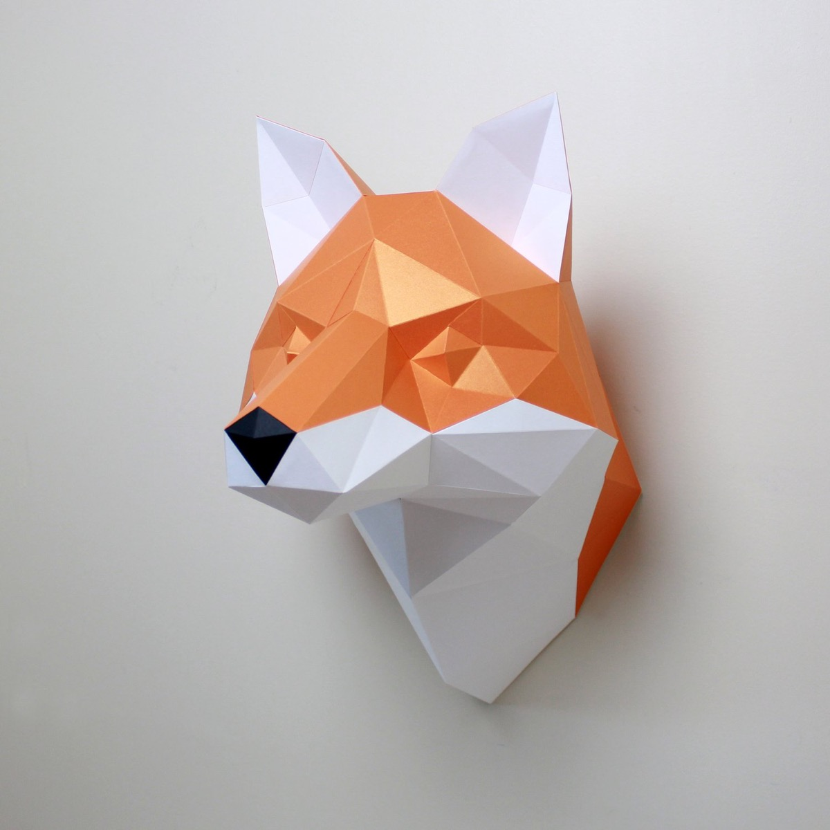 Paper fox wall art
