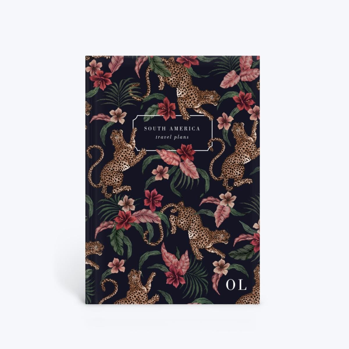 cheetah pattern custom notebook