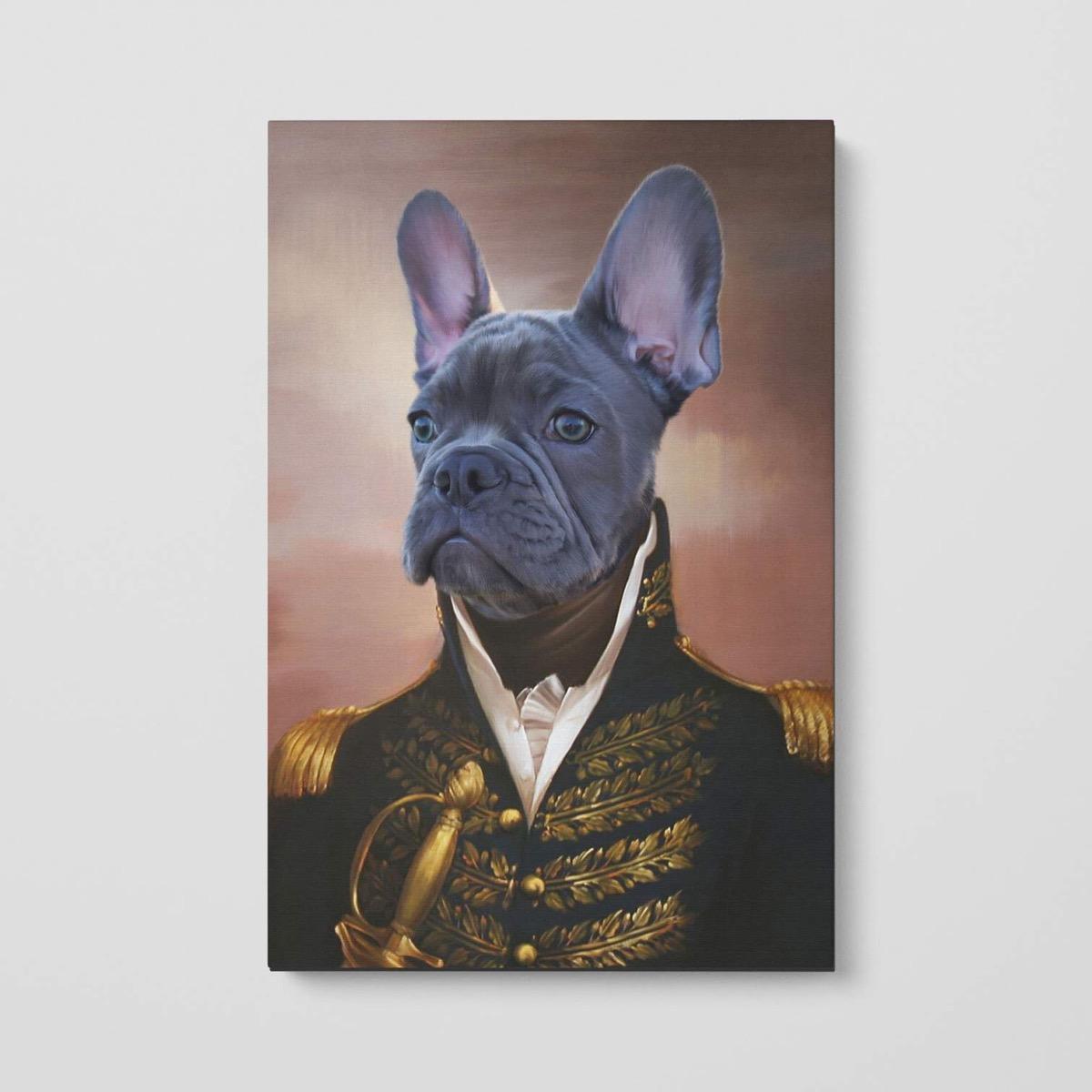 dog portrait in renaissance costume